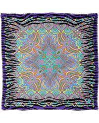 Liberty - Purple Wild About Liberty Bengal Paisley Silk Scarf - Lyst