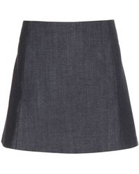 Victoria Beckham Denim Miniskirt - Lyst