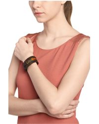 BOSS Orange - Leather Wrap Bracelet With Magnetic Clasp: 'mancy' - Lyst