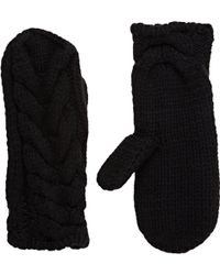 Barneys New York Cable-Knit Mittens - Lyst