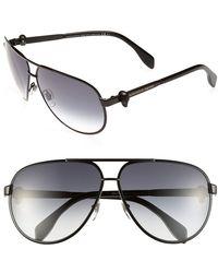 Alexander McQueen Women'S 65Mm Skull Temple Metal Aviator Sunglasses - Matte Black - Lyst