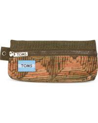 TOMS Brown Geo Mix Peninsula Pencil Case