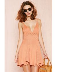 Nasty Gal For Love and Lemons Dolly Knit Dress - Lyst