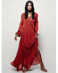 Free People | Womens Jessie Maxi Dress | Lyst