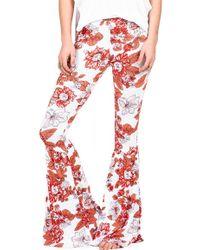 Volcom | 'cold Love' Print Bell Bottom Pants | Lyst