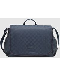 2738bb374ce6 Gucci - Nylon Guccissima Diaper Bag - Lyst