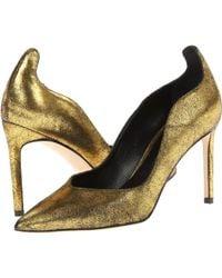 Delman Gold Brie - Lyst