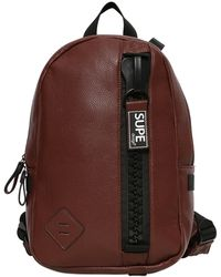 Supe Design - Faux Leather Backpack - Lyst