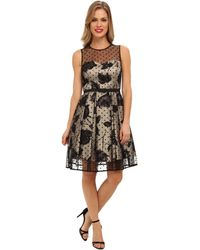 Eliza J Dot Overlay Party Dress - Lyst