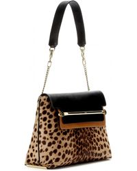 Chloé Clare Medium Leather and Calfhair Shoulder Bag - Lyst