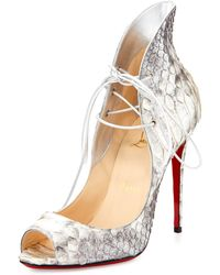 Christian louboutin Follies Spiked Floral 120mm Red Sole Pump in ...