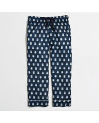 J.Crew Factory Cropped Pajama Pant in Owls - Lyst