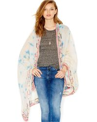 Betsey Johnson Mirror Embroidered Wrap multicolor - Lyst