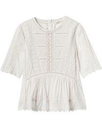 Rebecca Taylor | Short Sleeve Voile Lace Top | Lyst