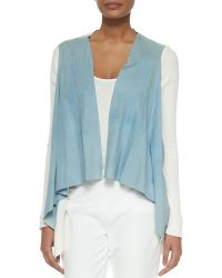 Elie Tahari Judy Suede And Knit Jacket - Lyst
