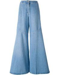 Kenzo Wide Leg Jeans - Lyst