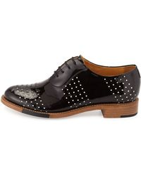 The Office Of Angela Scott - Mr. Smith Perforated Patent Oxford - Lyst