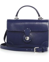 Ralph Lauren Collection Ricky Mini Crossbody Bag blue - Lyst