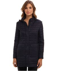DKNY Hooded 34 Sleeve Quilted Jacket Y4 - Lyst