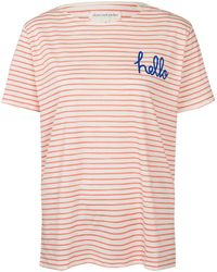 Chinti & Parker Red Hello Goodbye Stripe T-Shirt - Lyst