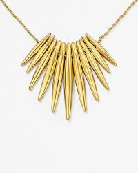 "Michael Kors Tribal Pendant Necklace, 16"" gold - Lyst"