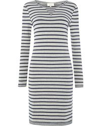 Linea Weekend Stripe Sweat Dress - Lyst