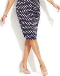 Michael Kors Michael Plus Size Printed Pencil Skirt - Lyst