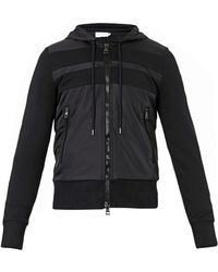 Moncler Contrastpanel Hooded Sweatshirt - Lyst