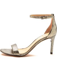 Tory Burch Keri Metallic Sandals - Pewter - Lyst