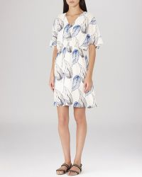 Reiss Dress - Pollie Leaf Print blue - Lyst