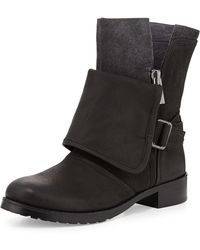 Luxury Rebel - Lucy Suede and Leather Boot - Lyst