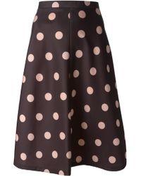 RED Valentino Polka Dot Skirt - Lyst