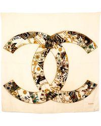 Chanel Pre-Owned Cc Logo Shawl - Lyst