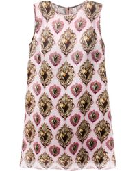 Dolce & Gabbana 'Sacred Heart' Print Dress - Lyst