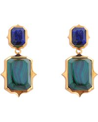 Isharya - Abstract Mughal Gold-plated Earrings - Lyst