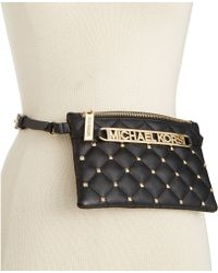 Michael Kors Michael Quilted Studded Belt Bag - Lyst