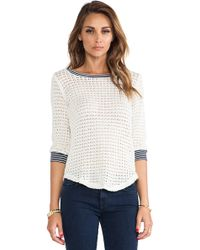Splendid Sweater Mesh Loose Knit - Lyst