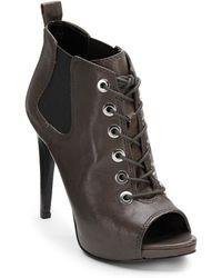 Nine West Elekra Lace-Up Peep Toe Ankle Boots - Lyst
