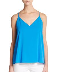 Alice + Olivia Stretch Silk Double-Strap Camisole Top - Lyst