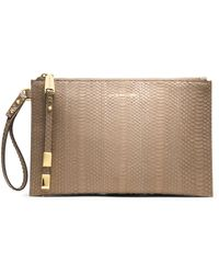 Michael Kors Large Harlow Zip Clutch - Lyst