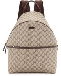 Gucci Gg Supreme Canvas Backpack - Lyst