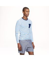 J.Crew Longsleeve Rash Guard in Bisque Blue Stripe - Lyst