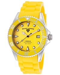 Swiss Legend - Luminous Yellow Silicone Yellow Dial Unidirectional Bezel - Lyst