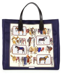 Gucci Large Horse Frame Print Tote multicolor - Lyst