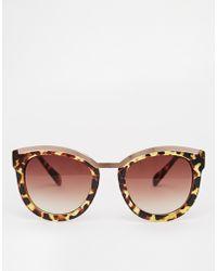 Asos Retro Sunglasses with Bar and Nose Bridge - Lyst