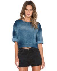 Cheap Monday Strike Sweatshirt blue - Lyst