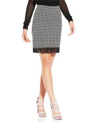 Vince Camuto Two Tone Organza Dot Skirt - Lyst