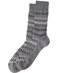 Missoni Zigzag Knit Crew Socks - Lyst