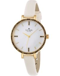 Kate Spade  Metro Skinny Watch with Crystal Detail - Lyst