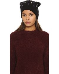 Markus Lupfer - Cable Knit Jewel Beanie Hat - Lyst